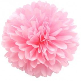 светло розовый помпон