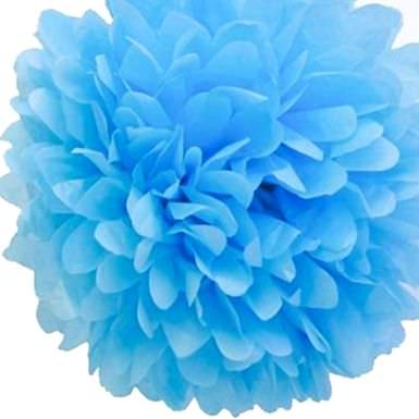голубой помпон