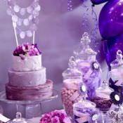 Цвет праздника: сиреневый, лавандовый и фиолетовый день рождения