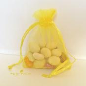 Бонбоньерка - желтый мешочек