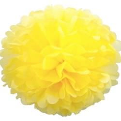 желтый бумажный помпон.