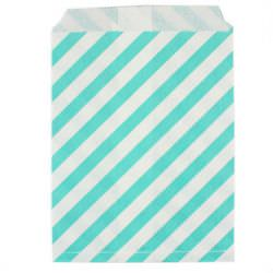 бумажный пакет в голубую полоску