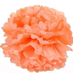 персиковый помпон