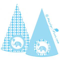 шаблон для печати голубые флажки