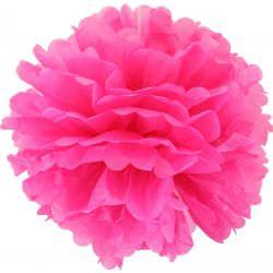 ярко розовый помпон