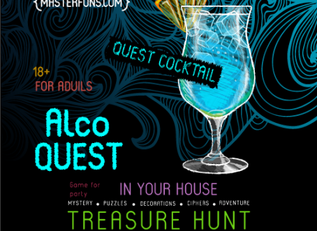 "FunPrint ""AlcoQuest"" - printable treasure hunt for adults"