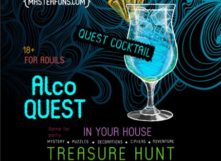 "FunPrint ""AlcoQuest"" - printable treasure hunt for adults"