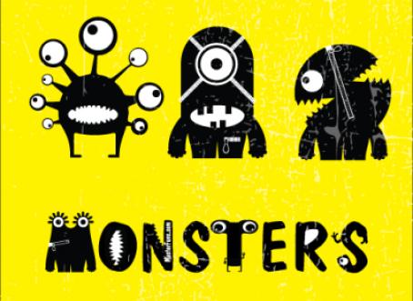 "FunPrint ""Monsters"" printable treasure hunt"