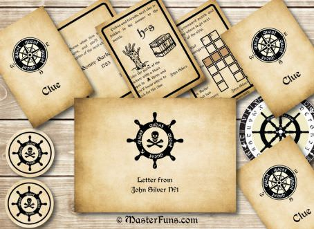pirate treasure hunt clues